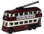 NQ1005 Oxford Diecast Cardiff BUT Trolleybus